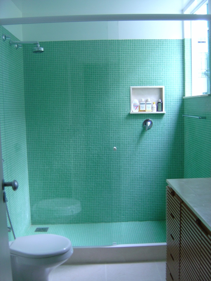Green Bath   House in Rio   interior design project by Malu Moraes