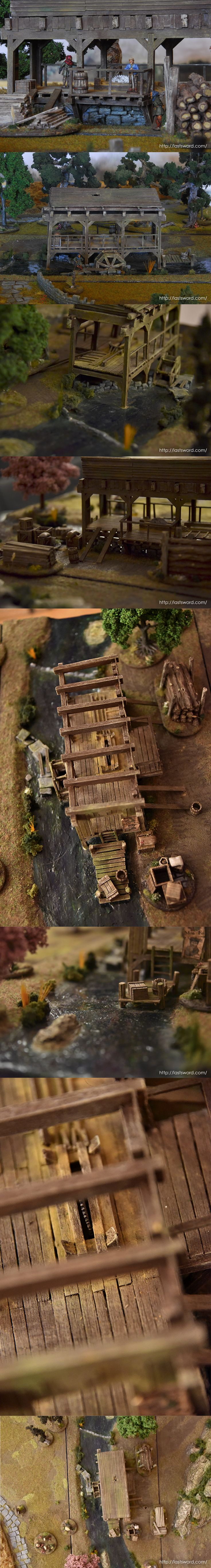 How to build a Sawmill for Warhammer Fantasy, Mordheim (Empire in flames) and 1650 A capa y Espada. Painted by Asdarel.