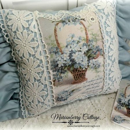 Mother's Day KEEPSAKE pillow forget me nots