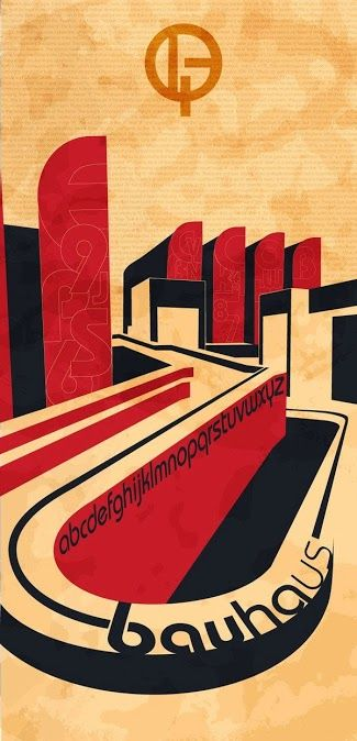 "¤ Bauhaus Design Poster. This is an ""inspired by"" bauhaus poster. not genuine."
