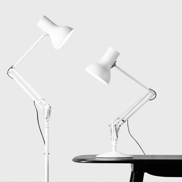 TYPE 75 MINI - Lampe de bureau articulée Blanc H40-70cm Anglepoise