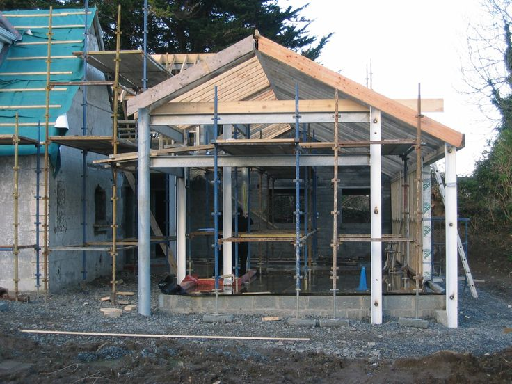 Extension to cottage in Kilcoole under construction.