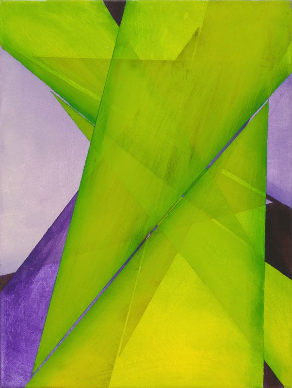 "Sam Jungkurth has been a professional New York artist for four decades, exhibiting in various galleries and cultural institutions. His talent was recognized early on. As a student he was awarded a grant from the Tyler School of Art to spend a year studying in Rome, Italy.  Geometric Abstraction #12, 2014, acrylic on canvas, 24"" x 18"""
