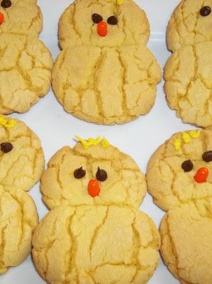 Easter Chick Lemon Cake Batter Cookies  |  Phaedra's Adventures