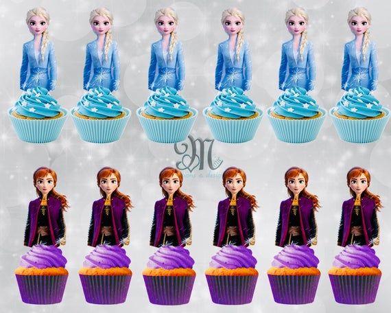 Cupcake Disney Frozen Cupcake Picks Frozen Cake Toppers Disney Frozen Cake Pop Toppers Cake Decoration DISNEY FROZEN Cupcake Toppers