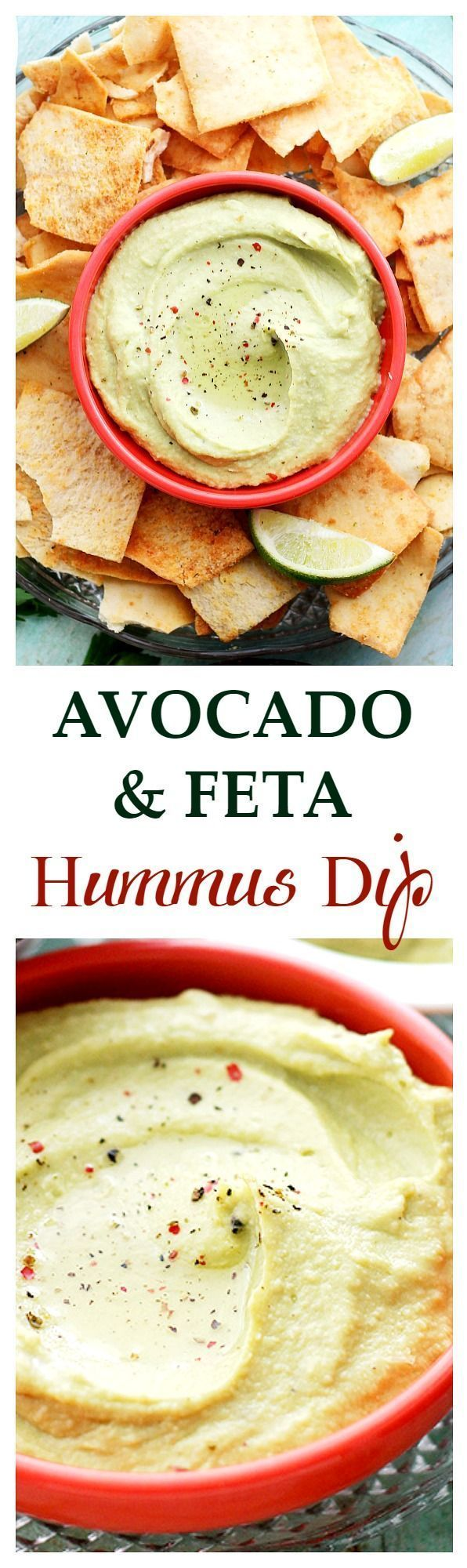 Avocado and Feta Hummus Dip ~ This snack has all your cravings covered ...