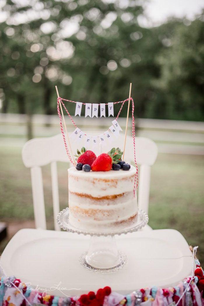 Semi-naked berry cake from a Farmer's Market Birthday Party on Kara's Party Ideas | KarasPartyIdeas.com (20)
