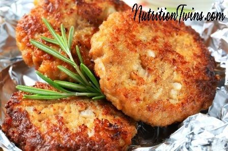 Chickpea Burgers! | Crisp, Crunchy, Delicious | Healthy & Perfect for Meatless Monday! | Only 131 Calories | Made with @egglandsbest  .client | For MORE RECIPES, fitness & nutrition tips please SIGN UP for our FREE NEWSLETTER www.NutritionTwins.com