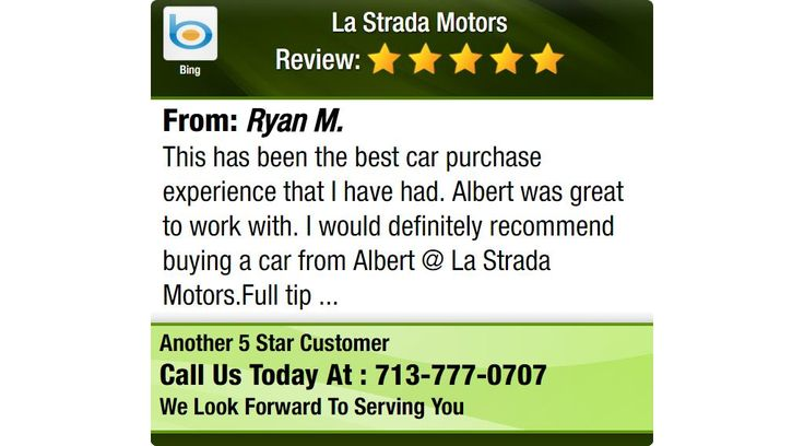 This has been the best car purchase experience that I have had. Albert was great to work...