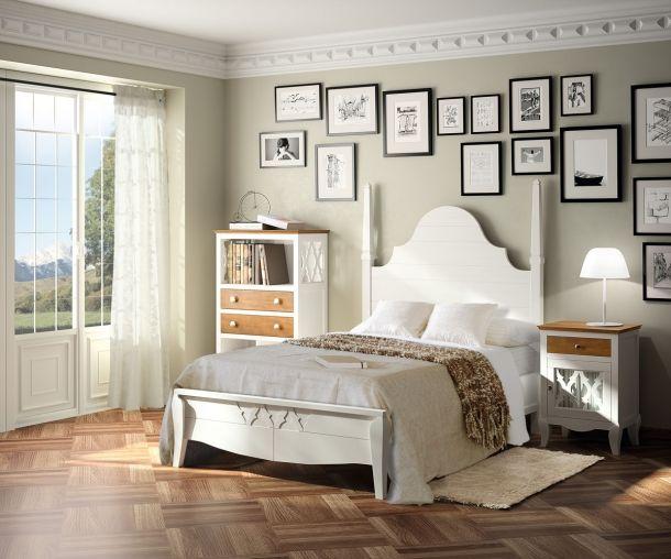 Dormitorio rústico urbano