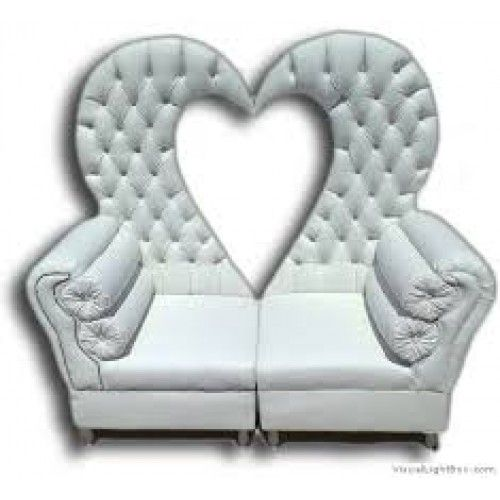 WEDDING COUCH HEART SHAPE