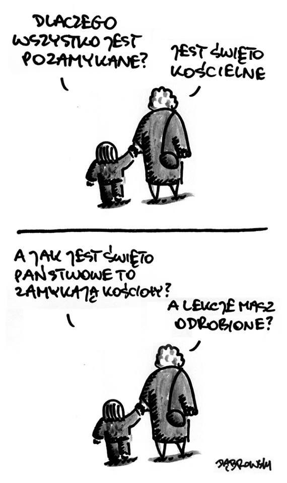 Komiks o kościele.