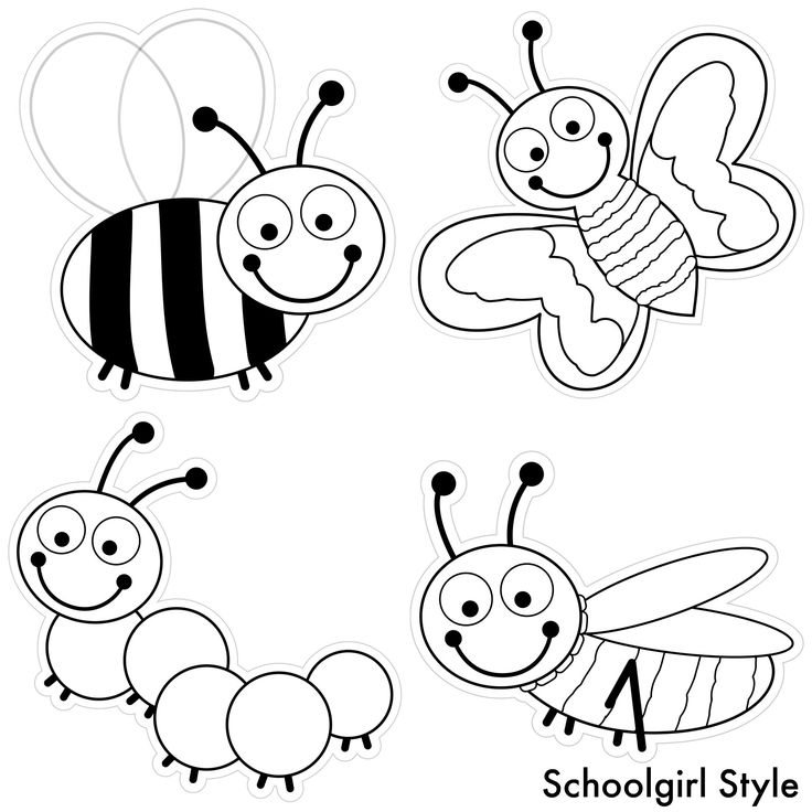 Color my classroom bugs by schoolgirl style bug insects for Ladybug coloring pages for preschoolers