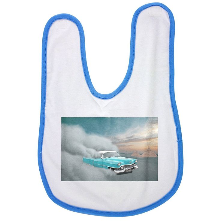 Car, Cadillac, Desert, Sand, Sandstorm baby bib in blue * You can get additional details at the image link. (This is an affiliate link and I receive a commission for the sales)