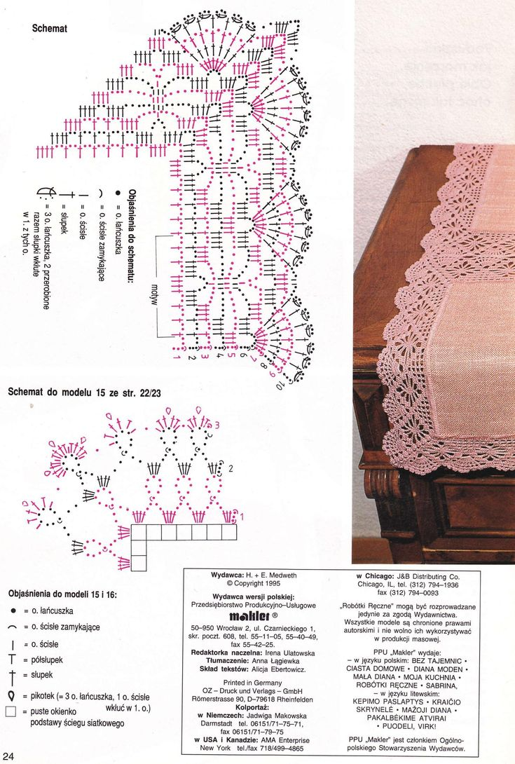 Spider & Fan crochet lace edging with corner - worked lengthwise ~~ Lnx103nr