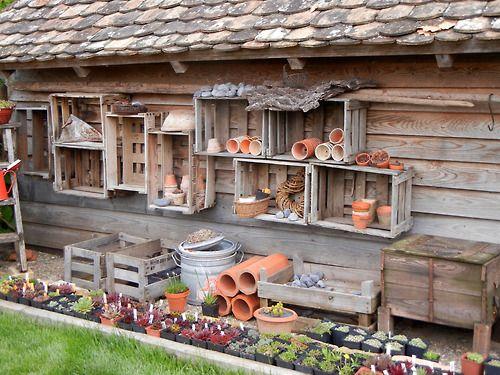 crates: potting wall
