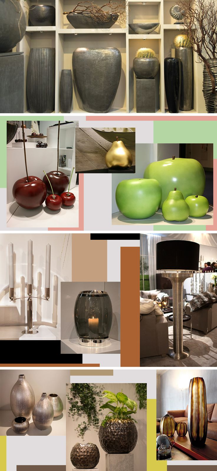 Big accessories give a big impact. At Ambiente, XXL key pieces such as oversized candlesticks, vases and other decorative details give great pleasure and illustrate the skill in staging your rooms just so. This #trend is huge!