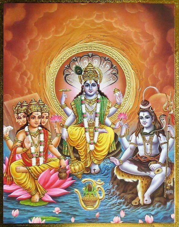 Sanskrit Of The Vedas Vs Modern Sanskrit: Hindu God Trinity - Brahma, Vishnu, Shiva