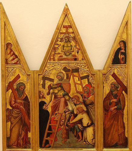 Triptych of the Deposition  LUCA DI TOMME' (Siena, 1330 circa – 1389 dopo)   #TuscanyAgriturismoGiratola
