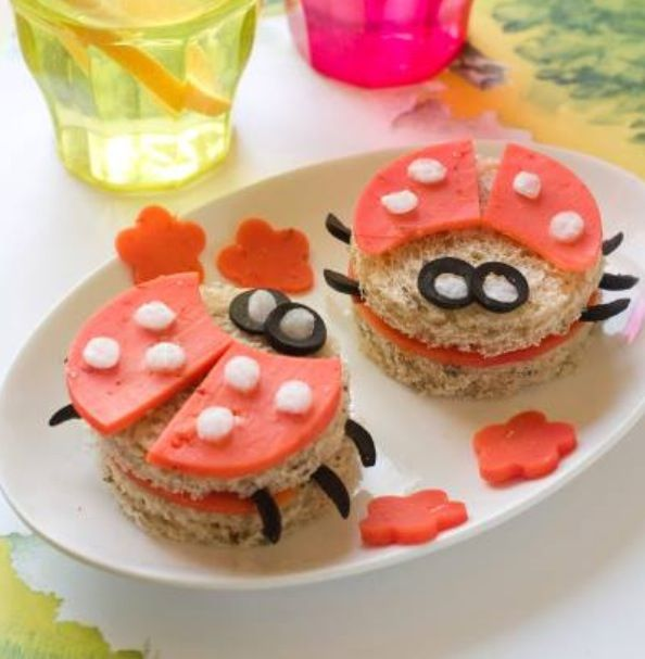 Martin's Whole Wheat Potato Bread would be perfect to make these cute lady bug sandwiches.