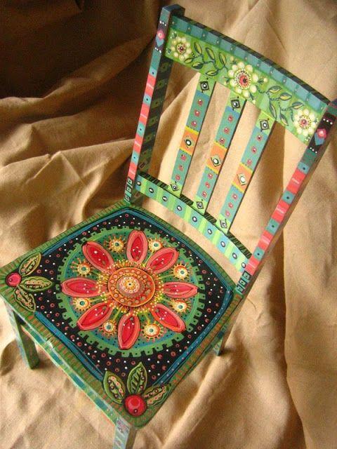 Adoro Lilás: Fofura do domingo - cadeira pintada