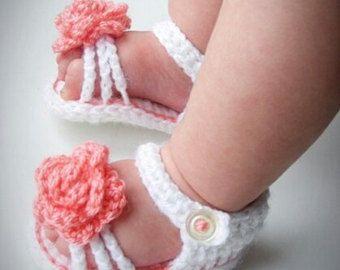 baby sandals newborn sandals crochet baby sandals by Amaiahandmade