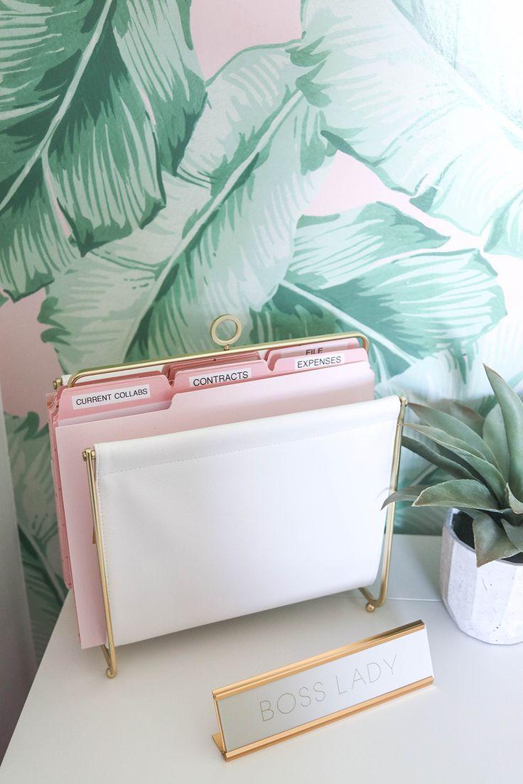 The Emily & Meritt Palm Leaf Surestrip Wallpaper, 3'x8′