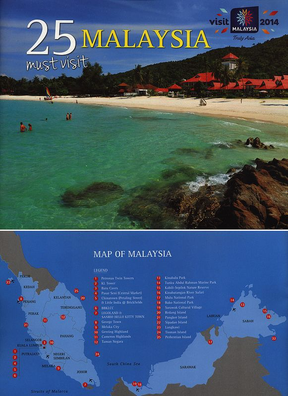 Malaysia 25 must visit 2014 | tourism travel brochure | by worldtravellib World Travel library