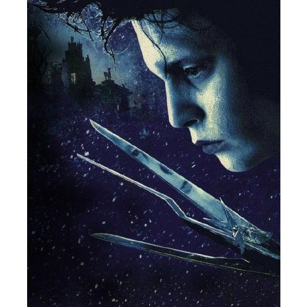 Постеры: Эдвард руки-ножницы (Edward Scissorhands) ❤ liked on Polyvore featuring movies and edward scissorhands