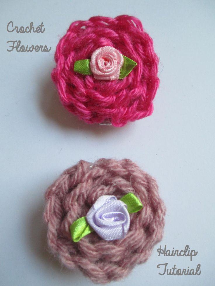 Diy Crochet Flower Hair Clip Tutorial Diyour
