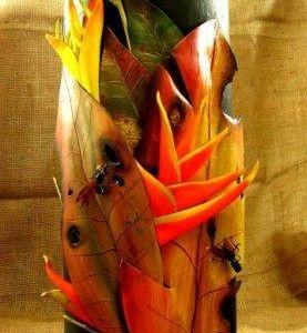 Adorno de Pared en Foamy pintado al Óleo realizado en la región del Putumayo (Colombia)