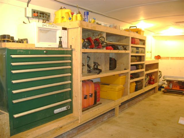 Trailer organization boats cars bikes pinterest for Rv workshop