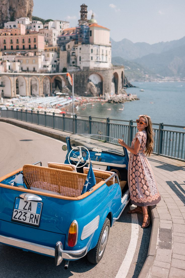 Amalfi Coast Drive In A Fiat Jolly