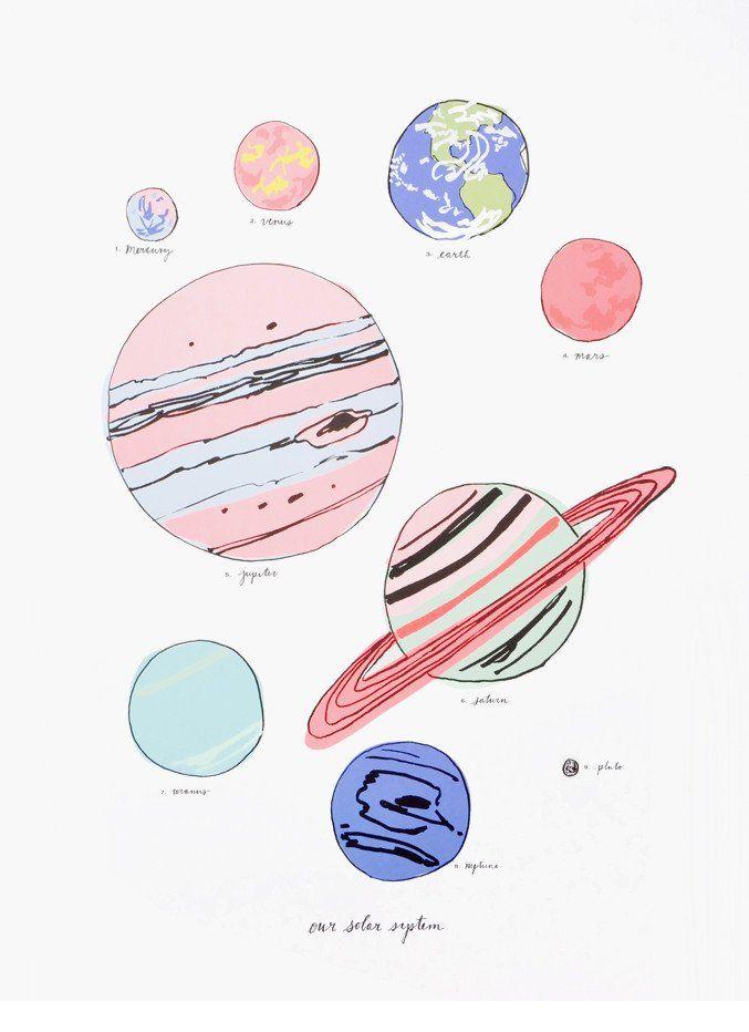 new arrival // solar system print