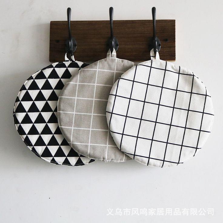 1Pcs Pot mats Fabric coasters insulation pad placemat cotton creative cup mat pot mat table mats home Decoration