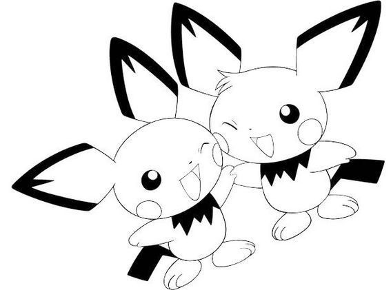Perfect Pichu Coloring Pages For Little Kids Ninjago Coloring Pages Coloring Pages Pokemon Coloring