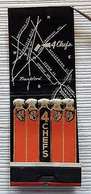 Feature Matchbook, 4 Chefs Catering, East Coast, Ballrooms, Dances, Shows, Map