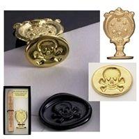 pirate stamp: Handles Stamps, Samp Skull, Pirates Parties, Seals Skull, Wax Seals Stamps, Crossbon Wax, Seals Samp, Brass Seals, Brass Handles