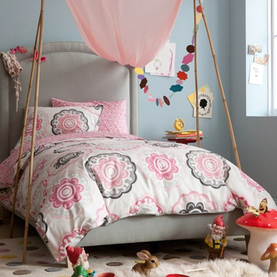 DwellStudio Kids Bedding Zinnia Rose Duvet Set