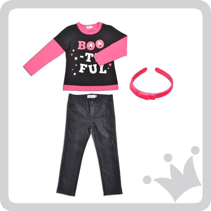 En este Halloween disfruta tu franela Boo-tiful para niñas hermosas, para niñas epk.