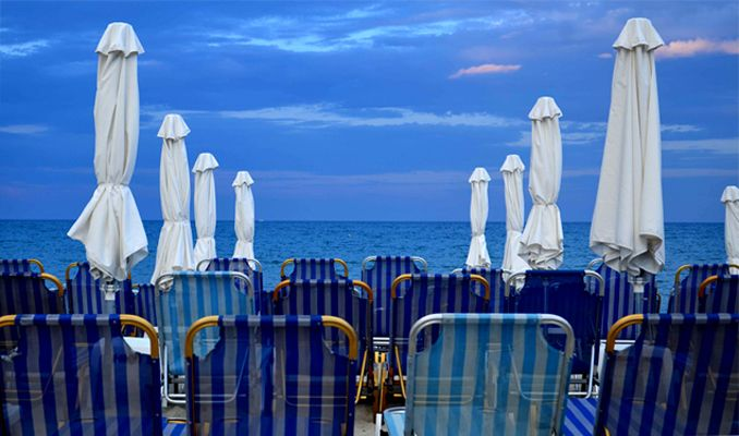 Beach view, Paralia Katherini, Greece