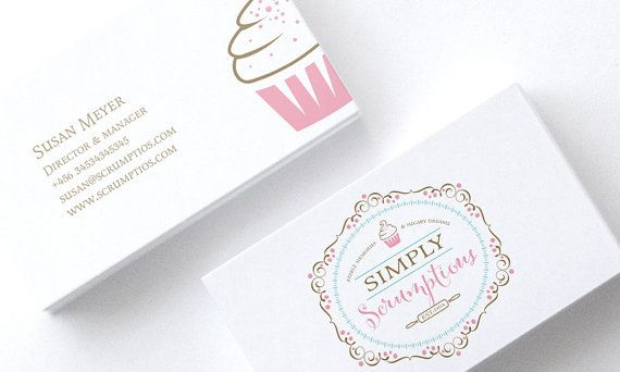 $21 Whismical Ornate Luxury Bakery Logo and by cookiesandcreamshop