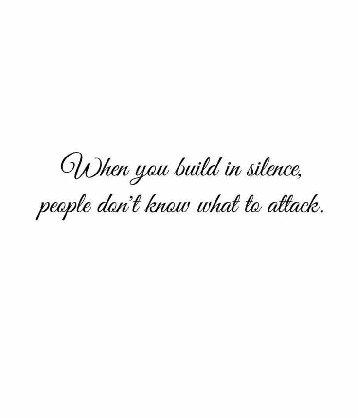 Build in silence