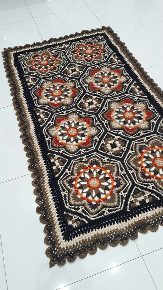 Persian tiles This is a rug but this would make a great afghan