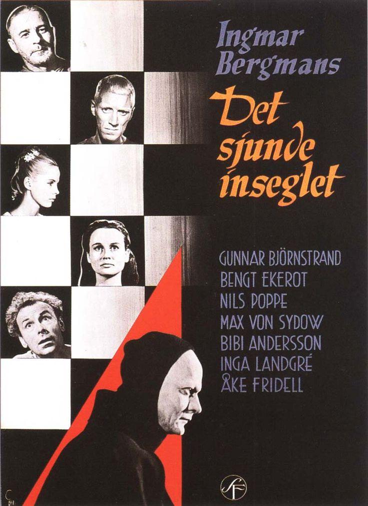 The Seventh Seal (Ingmar Bergman, 1957): Ingmar Bergman'S, Film, Movie Posters, El Séptimo, Séptimo Sello, Seventh Seals, Det Sjund, Seals 1957, Sjund Inseglet