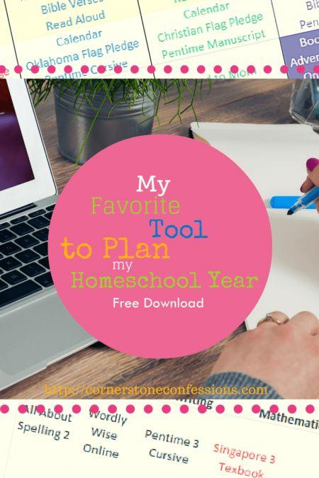 My Favorite Tool to Plan My Homeschool Year (Free Excel Planner Download)