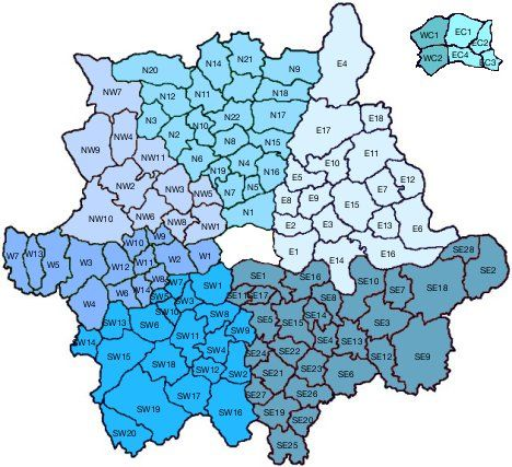 London Accommodation: Search by Area