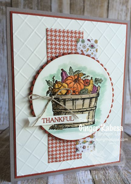 Stampin' Up! Basket of Wishes card inspired by Amy O'Neill in Texas.