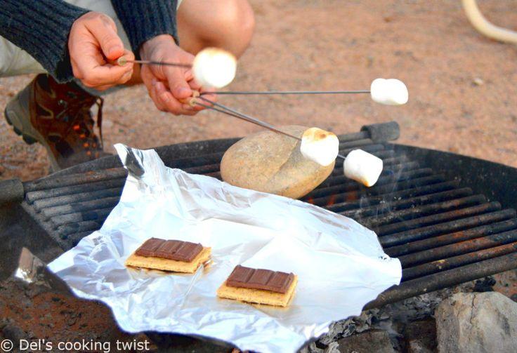 Les vrais S'mores américains au feu de bois   Del's cooking twist