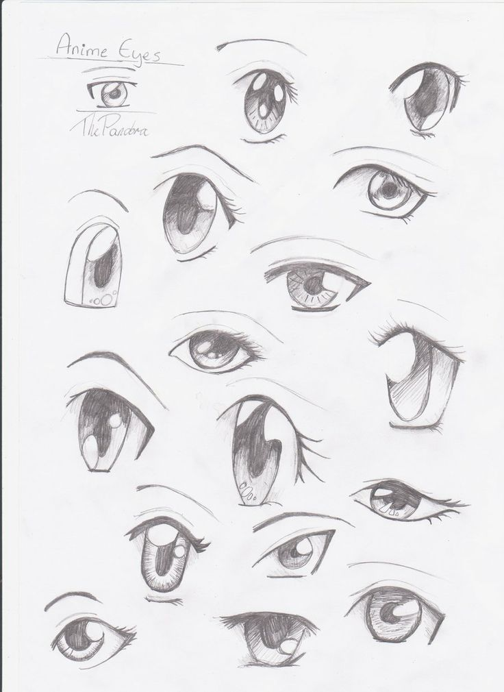 how to draw good anime eyes